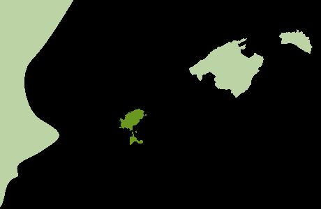 Ibiza und Formentera auf Balearenkarte